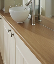 Bullnose matt laminate 28mm worktops with P3 Grade Moisture Resistance Peterborough